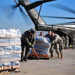 Hilfslieferung nach dem Erdbeben in Haiti 2010