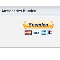 Spenden-Button von PayPal (Screenshot)