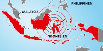 Tsunami und Erdbeben Indonesien